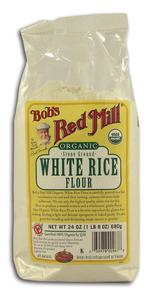 Bob's Red Mill White Rice Flour Stone Ground Organic - 4 x 24 ozs.