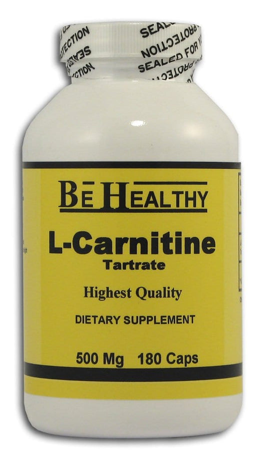 Be Healthy L-Carnitine Tartrate 500 mg. - 180 caps