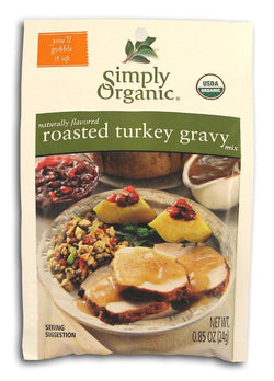 Simply Organic Roasted Turkey Gravy Mix Organic - 3 x 0.85 ozs.