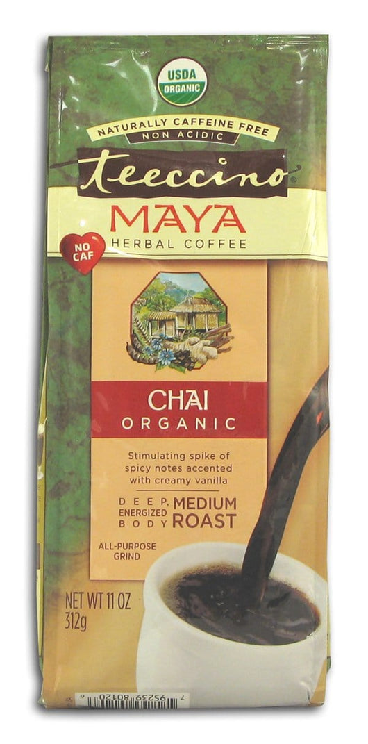 Teeccino Maya Chai Herbal Coffee Organic - 11 ozs.