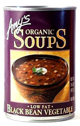 Amy's Black Bean Vegetable Soup Organic - 12 x 14.5 ozs.