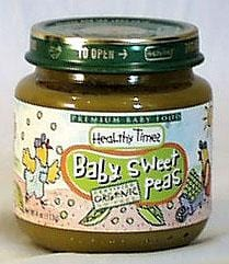 Healthy Times Baby Sweet Peas Organic - 3 x 4 ozs.