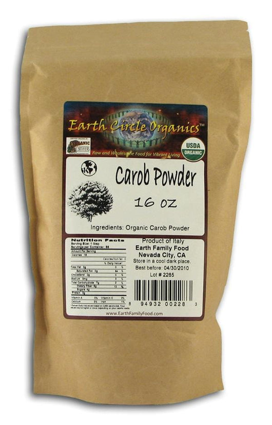 Earth Circle Organics Carob Powder (not roasted) Organic - 1 lb.