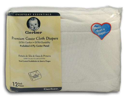 Gerber Gauze Weave Diapers - 10 pack