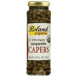 Roland Foods Capers, Nonpareilles, Organic  - 3.75 ozs.