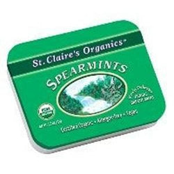 St. Claire's Spearmints, Organic  - 6 x 1 tin