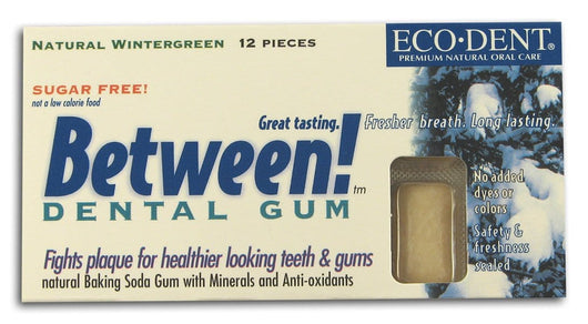 Eco-Dent Between! Dental Gum Wintergreen - 12 pieces