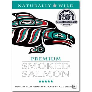 Alaska Smokehouse Smoked Salmon, Natural, in Gift Box - 4 ozs.