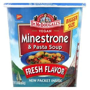 Dr. McDougall's Right Foods Big Soup Cups, Minestrone - 6 x 2.3 ozs.
