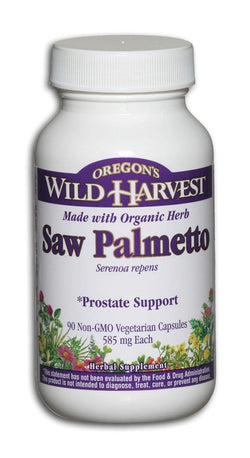 Oregon's Wild Harvest Saw Palmetto Organic - 90 veg caps