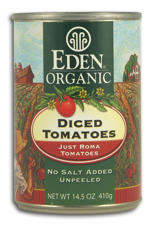 Eden Foods Diced Tomatoes Just Romas Organic - 12 x 14.5 ozs.
