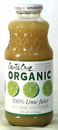 Santa Cruz Lime Juice 100% Organic - 16 ozs.