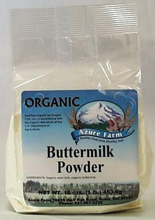 Azure Farm Buttermilk Powder Non-Instant Organic - 16 ozs.