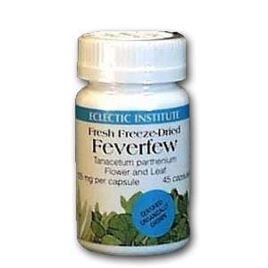 Eclectic Institute Freeze Dried Feverfew Organic - 45 caps