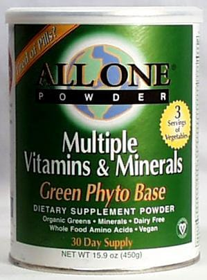 All-One Green Phyto Multi-Vitamin & Mineral - 15.9 ozs.