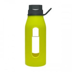 Takeya Glass Water Bottle, Green Apple - 16 ozs.