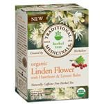 Traditional Medicinals Organic Tea Linden Flower with Hawthorn & Lemon Balm 16 bags