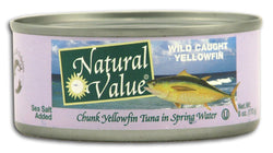 Natural Value Yellowfin Tuna Salted - 24 x 6 ozs.