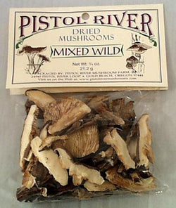 Pistol River Mixed Wild Mushrooms Dried - 12 x 0.75 ozs.