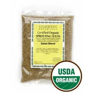 Starwest Salad Blend Sprouting Seeds, Organic - 4 ozs.
