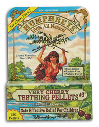 Humphrey's Teething Pellets #3 Very Cherry - 135 pellets