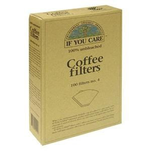 If You Care Coffee Filters, No. 4, 100% Unbleached - 100 filters