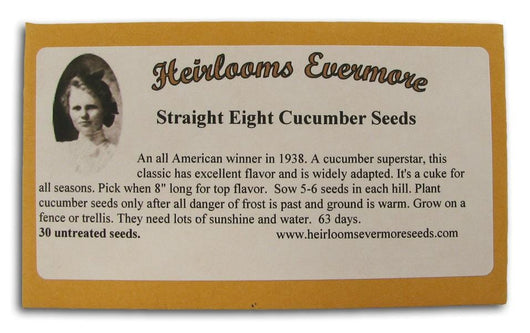 Heirlooms Evermore Straight Eight Cucumber Seeds - 30 seeds