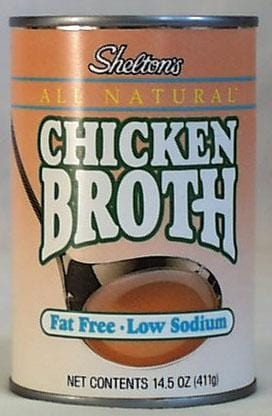Shelton Chicken Broth Low Salt - 12 x 14 ozs.