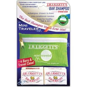 Liggett Old Fashioned Bar Shampoo, Mini Traveler Pack with Case - 1 each