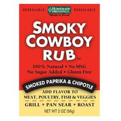 Homemade Dressings Smoky Cowboy Rub - 24 x 2 oz