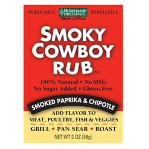 Homemade Dressings Smoky Cowboy Rub - 2 oz