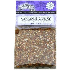 Livin' Spoonful Sprouted Crackers, Coconut Curry - 2.8 ozs.