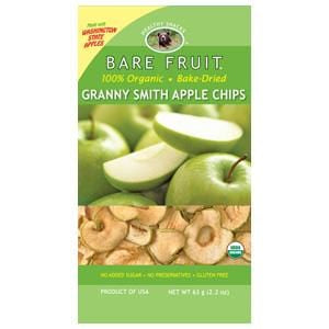 Bare Fruit Apple Chips, Granny Smith, Dried, Organic - 12 x 2.2 ozs.