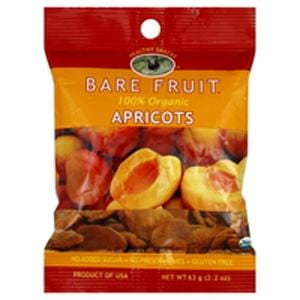 Bare Fruit Apricots, Dried, Organic - 2.2 ozs.