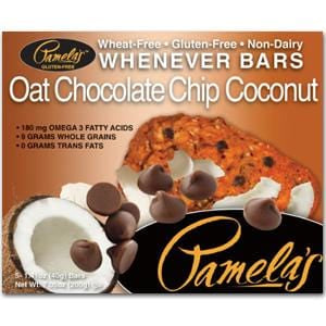 Pamela's Whenever Bars, Oat Chocolate Chip Coconut - 7.05 ozs.
