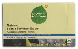 Seventh Generation Fabric Softener Sheets Blue Eucalyptus & Lavender - 12 x 1 box