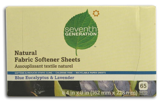 Seventh Generation Fabric Softener Sheets Blue Eucalyptus & Lavender - 1 box