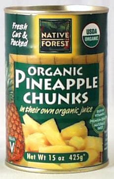 Native Forest Pineapple Chunks Organic - 14 ozs.