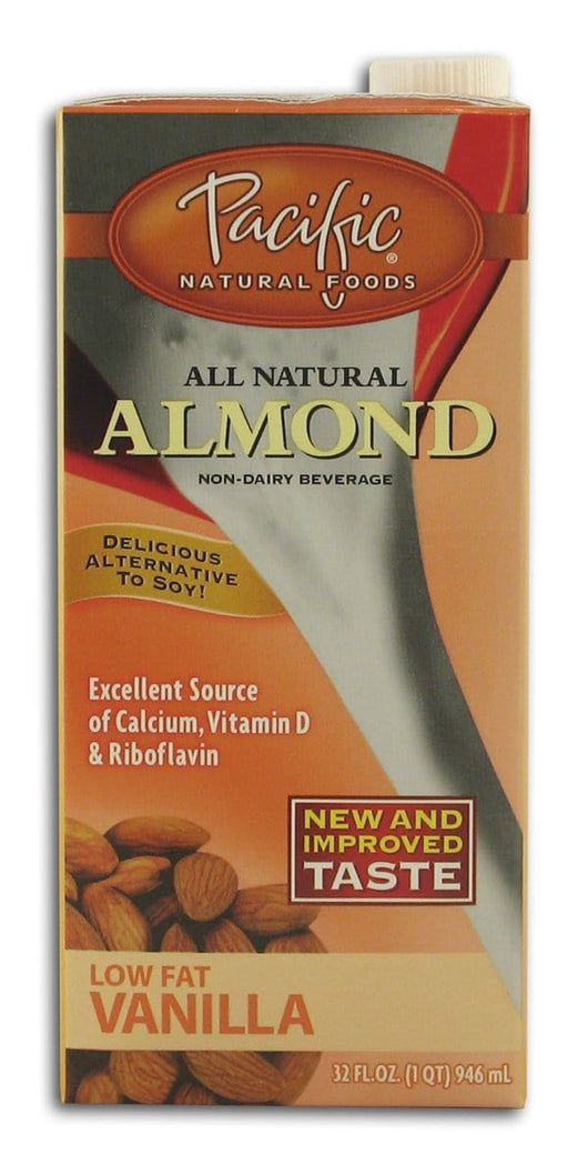 Pacific Foods Almond Beverage Low Fat Vanilla - 12 x 32 ozs.