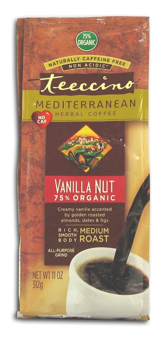 Teeccino Vanilla Nut Herbal Coffee - 6 x 11 ozs.