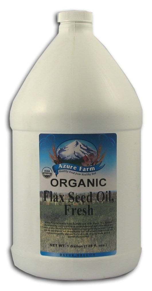 Azure Farm Flax Seed Oil Fresh Organic - 4 x 1 gallon