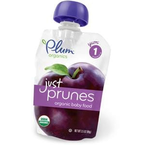 Plum Organics Stage 1 Just Fruit Puree, Prunes, Organic    - 6 x 3.5 oz