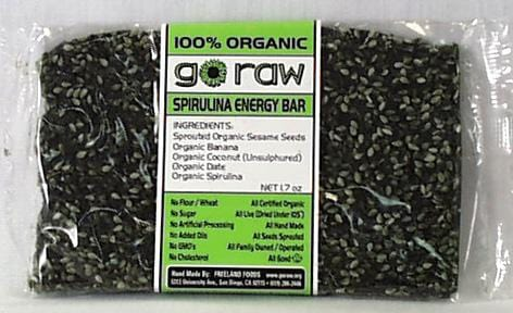 Go Raw Spirulina Energy Bar - 25 x 1.25 ozs.