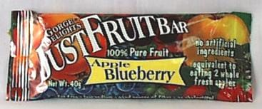 Gorge Delights Just Fruit Bar Apple Blueberry - 16 x 1.4 ozs.