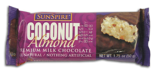 Sunspire Coconut Almond Bar Milk Chocolate - 3 x 1.4 ozs.
