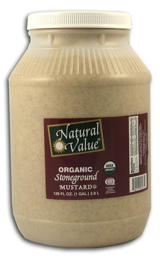 Natural Value Stone Ground Mustard Organic - 4 x 1 gallon