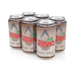 Zevia LLC Ginger Root Beer Diet Soda - 6 x 12 ozs.