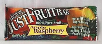Gorge Delights Just Fruit Bar Apple Raspberry - 16 x 1.4 ozs.