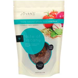 Jovan's Crackers, Taste of Tuscany, Natural, Gluten Free - 4 ozs.