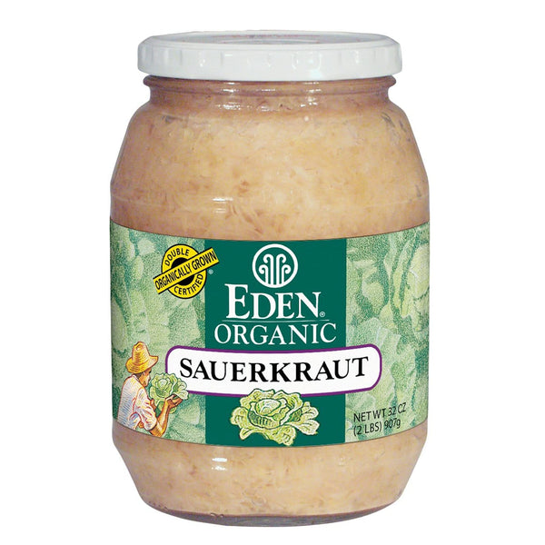 Eden Foods Sauerkraut in glass Fine Cut Organic - 32 ozs.